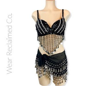 NWOT Belly Dance Bra Skirt Costume